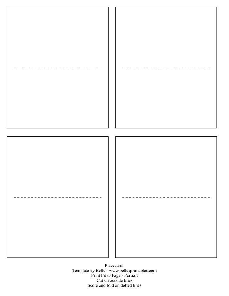 Place Card Template Free Best 25 Free Place Card Template Ideas On Pinterest