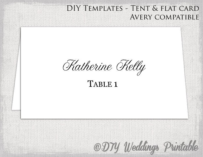 Place Card Template Free Place Card Template Tent & Flat Name Card Templates