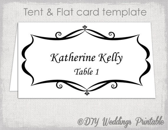 Place Card Template Free Place Card Template Tent and Flat Name Card Templates