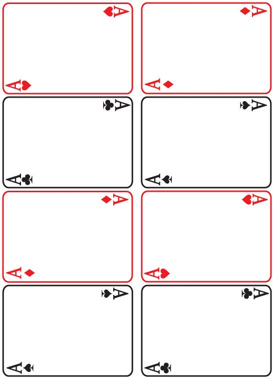 Playing Card Size Template Blank Playing Cards