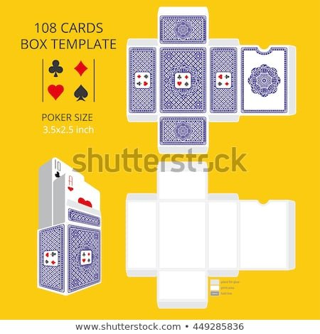 Playing Card Size Template Playing Cards Box Stock Royalty Free