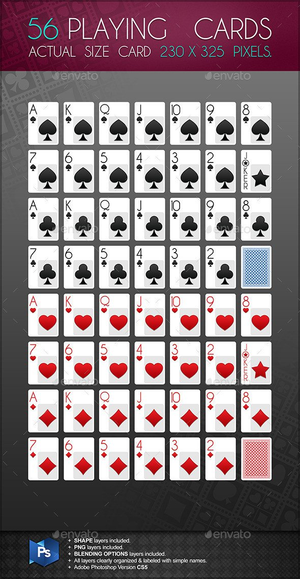 Playing Card Template For shop Dondrup