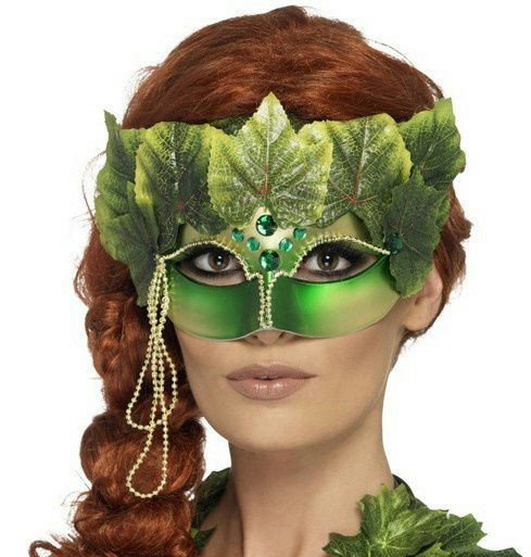 Poison Ivy Eye Mask Template Mother Nature Poison Ivy forest Nymph Decorative Eye Mask