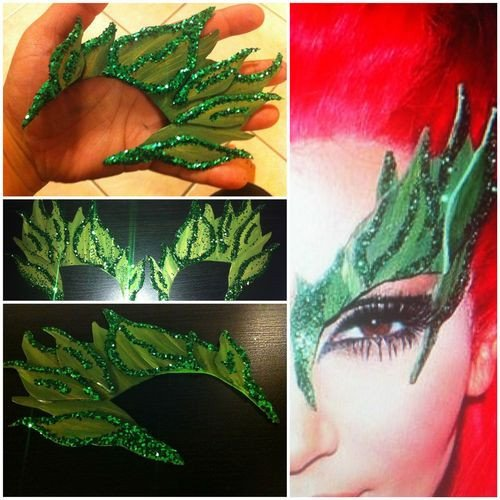Poison Ivy Eye Mask Template Y Eyebrows and Pandora Jewelry On Pinterest