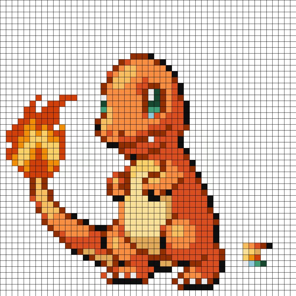 Pokemon Pixel Art Grid Charmander by Supersonic3225 On Deviantart