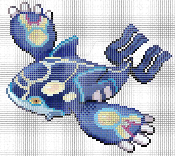 Pokemon Pixel Art Grid Kyogre Pixel Art Grid by Supercoolrainbowdashviantart