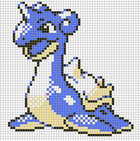 Pokemon Pixel Art Grid Lapras by Hama Girl On Deviantart