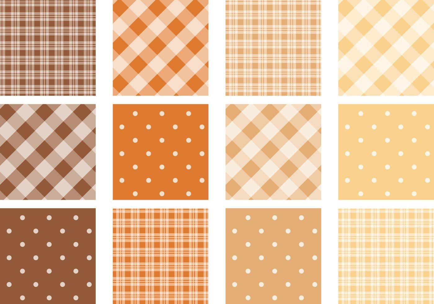 Polka Dot Brush Photoshop Fall Colored Plaid and Polka Dot Pattern Pack Free