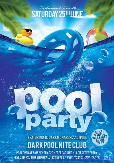 50 Best Summer Pool Party Flyer Print Templates 2019