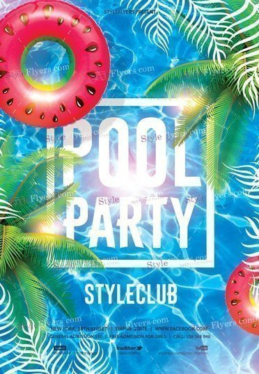 Pool Party Flyer Template Free Pool Party Psd Flyer Template Styleflyers