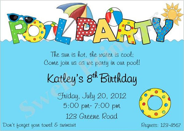 36 Pool Party Invitation Templates PSD AI Word