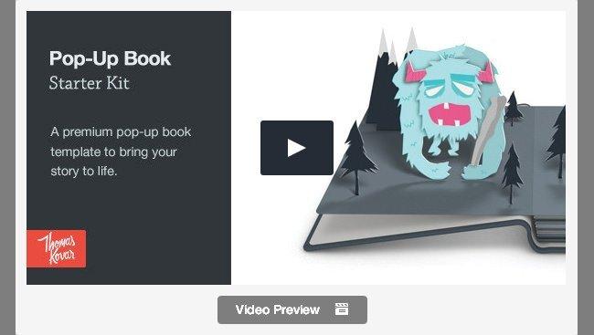 Pop Up Book Template 25 Best Promo Video Templates