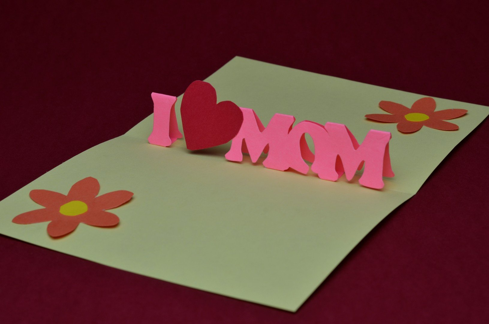 Pop Up Card Templates Free Free Mother's Day Pop Up Card Template and Tutorial