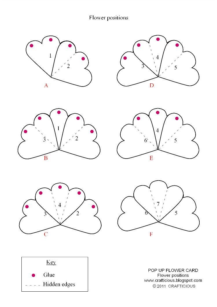 Pop Up Cards Templates Crafticious Pop Up Card Valentine Flowers