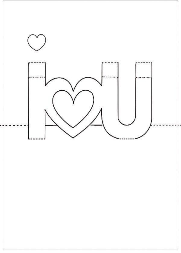Pop Up Cards Templates Diy Template for Valentine S Day Pop Up Card