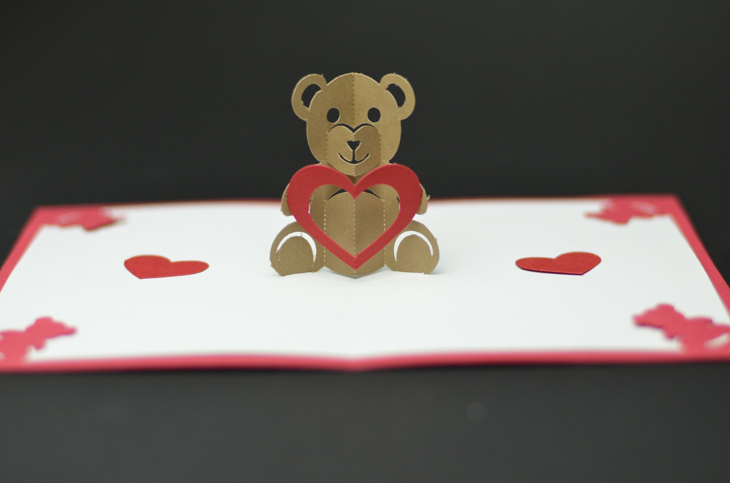 Pop Up Cards Templates Teddy Bear Pop Up Card Template