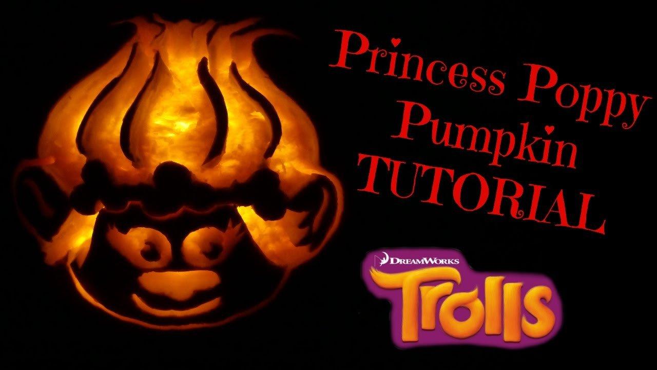 HOW TO CARVE PUMPKINS MAKE PRINCESS POPPY TROLLS