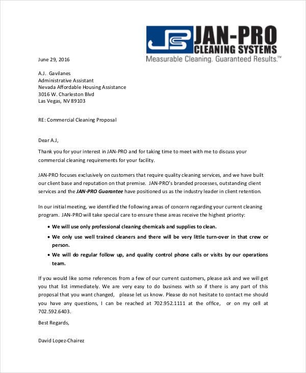 Post Construction Cleaning Proposal Template 12 Cleaning Proposal Examples and Samples Pdf Word