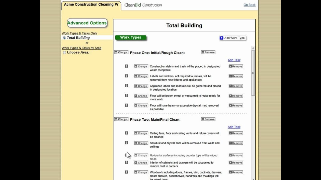 Post Construction Cleaning Proposal Template Cleanguru Construction Cleaning Bidding software