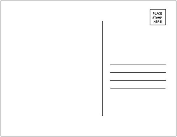 Postcard Template for Word 19 Postcard Templates Free Psd Eps Ai format Download
