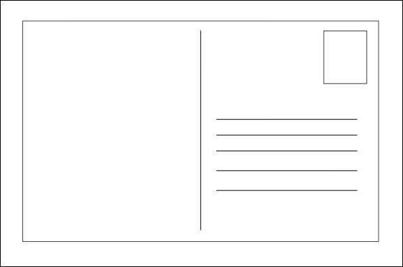Postcard Templates for Word 26 Printable Postcard Templates