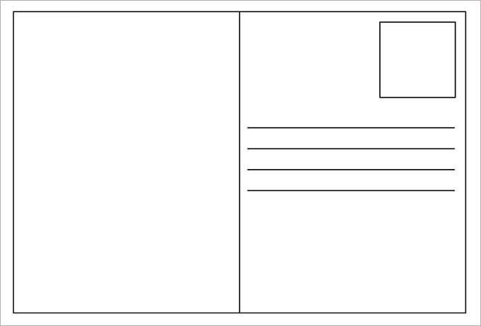 Postcard Templates for Word 34 Blank Postcard Templates Psd Vector Eps Ai