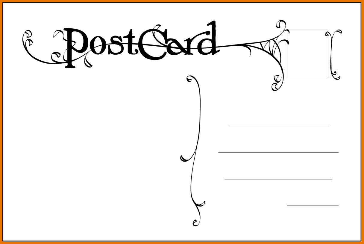 Postcard Templates for Word Free Postcard Templates