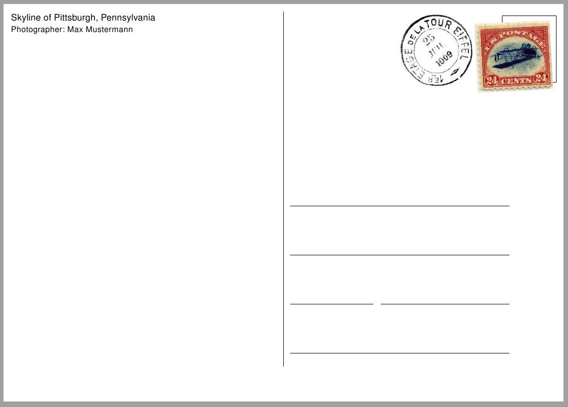 Postcard Templates for Word Postcard Template Free