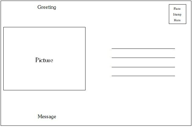 Postcard Templates for Word Postcard Template Word