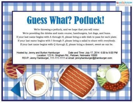 Printable Potluck Invitations Thanksgiving