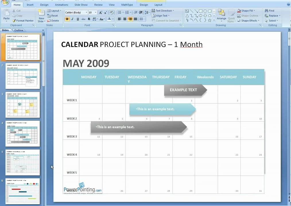 Power Point Calendar Templates How to Edit A Calendar In Powerpoint