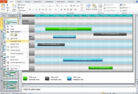 Power Point Calendar Templates How to Make A Calendar In Powerpoint 2010 Using Shapes and