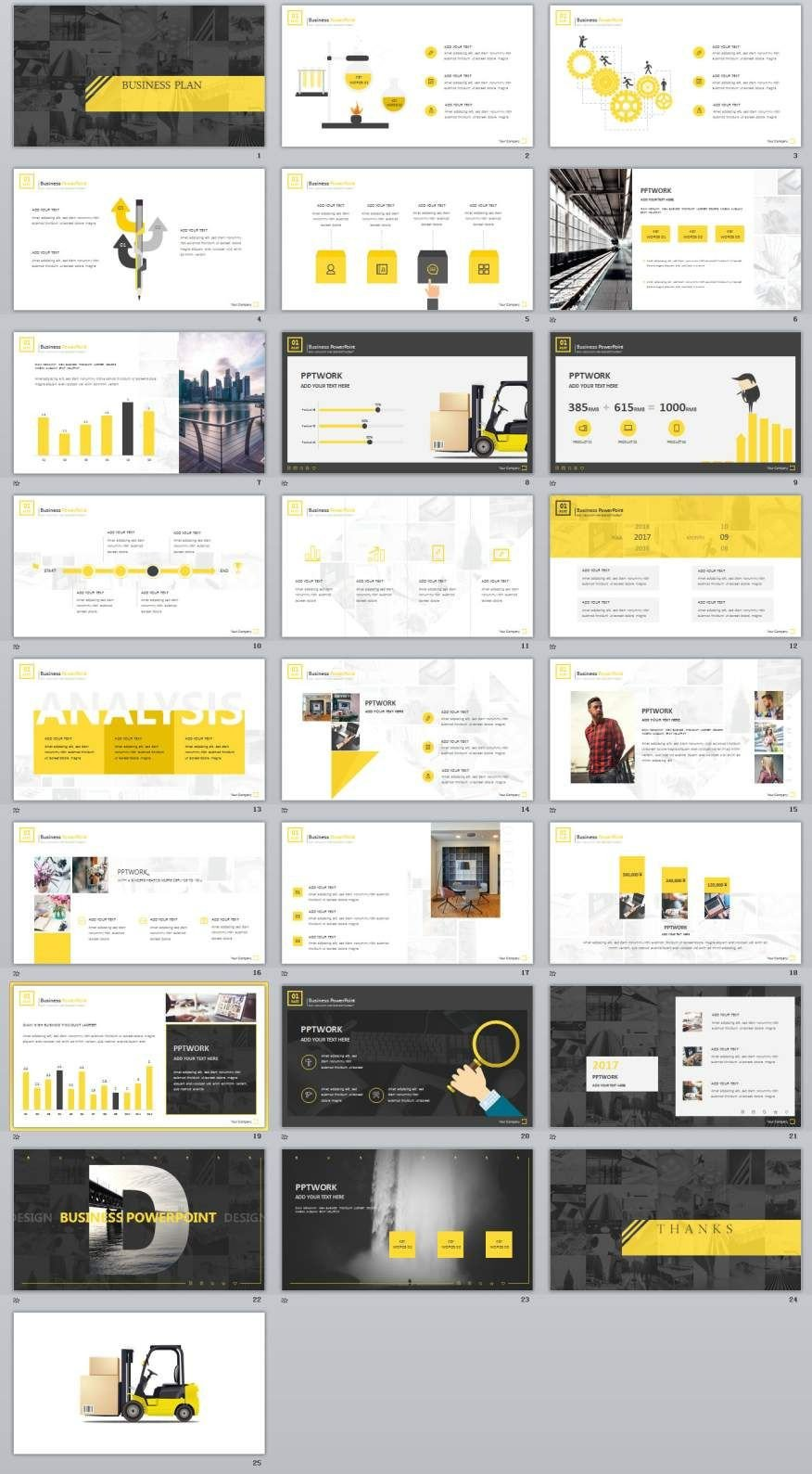 Powerpoint Presentation Outline Example 25 Yellow Business Plan Powerpoint Templates