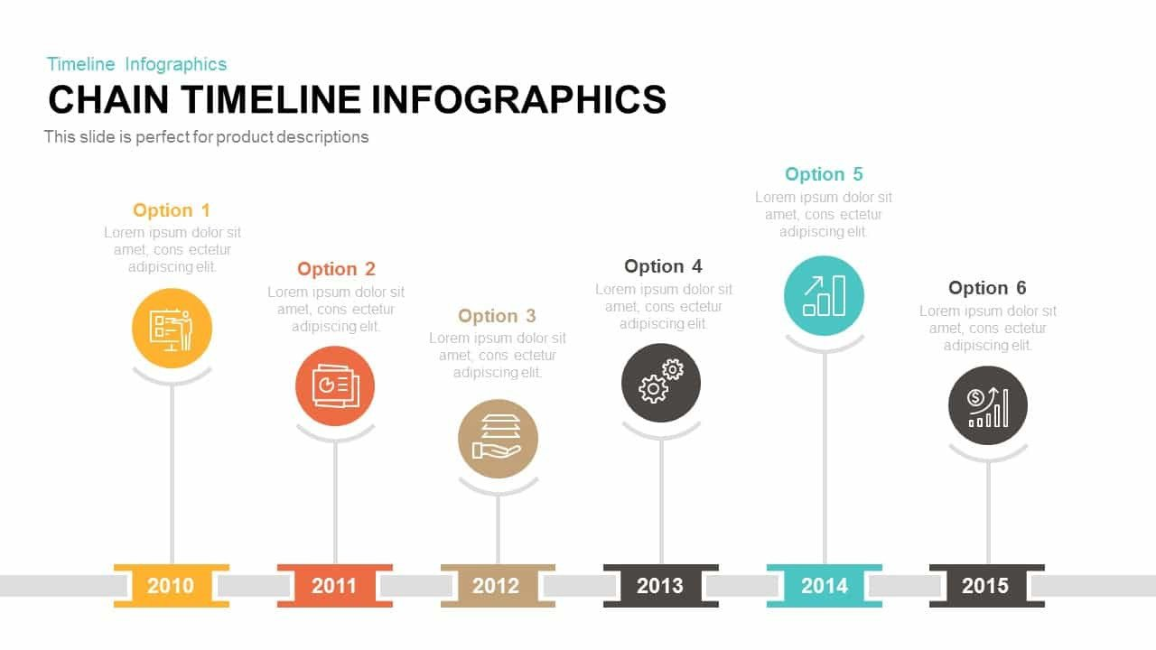 Powerpoint Timeline Template Free Chain Timeline Infographics Powerpoint Template & Keynote