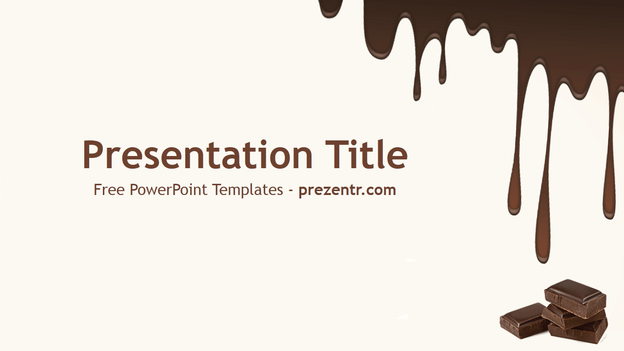Ppt Presentation Template Free Free Dark Chocolate Powerpoint Template Prezentr