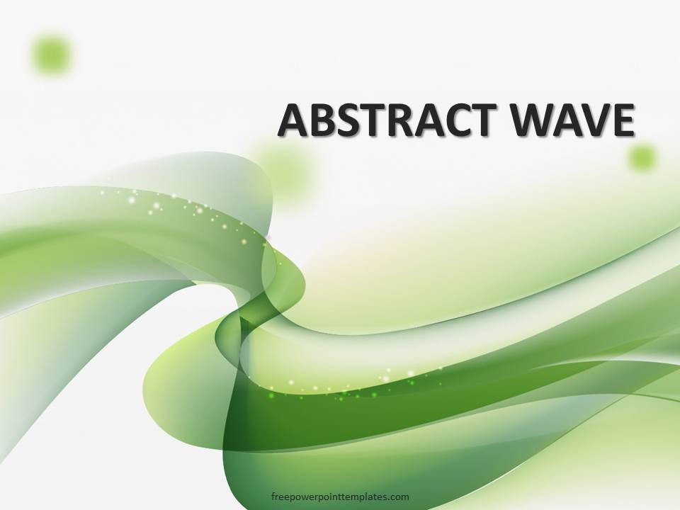Ppt Presentation Template Free Free Green Wavy Powerpoint Template