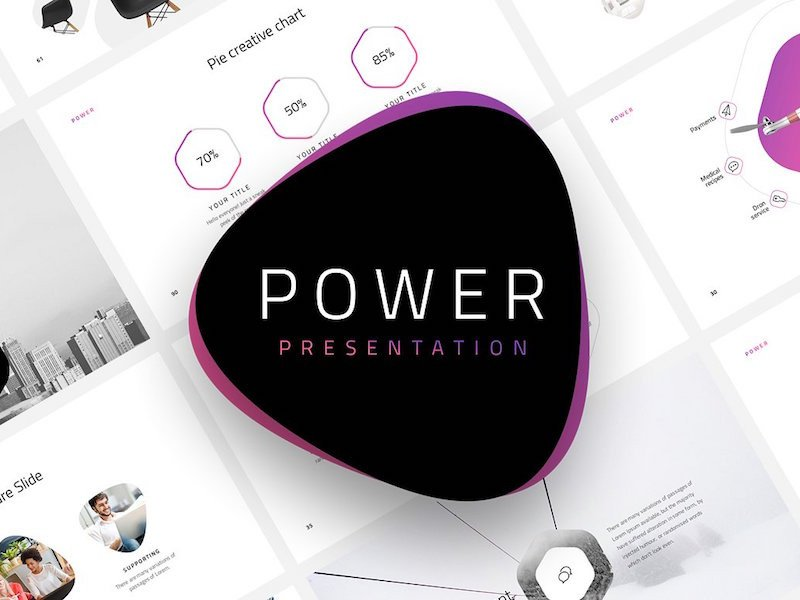 POWER Free Minimal Powerpoint Template by Pixel Surplus