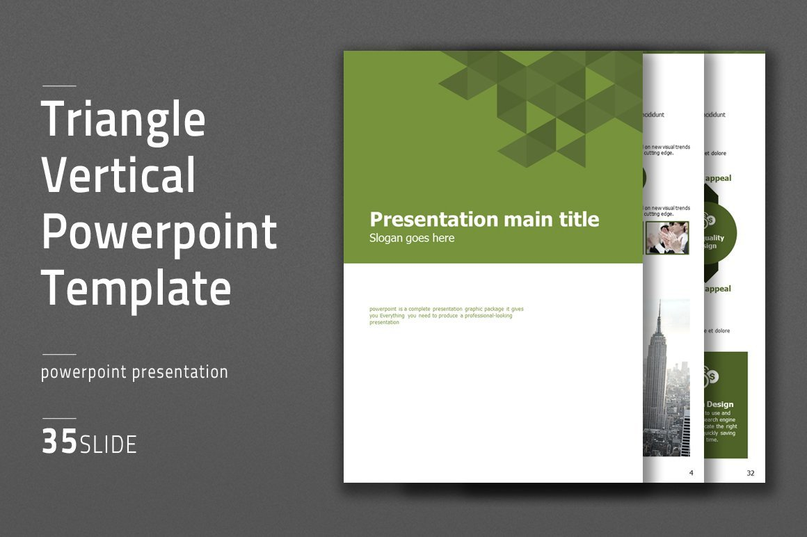 Ppt Presentation Template Free Triangle Vertical Ppt Template Powerpoint Templates