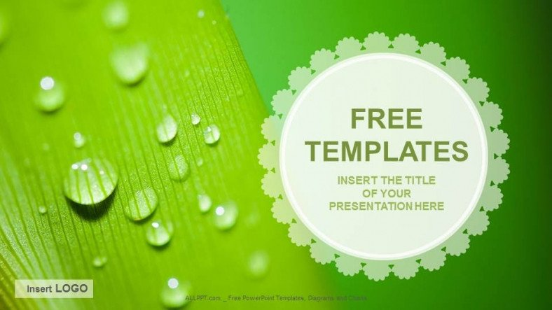 Ppt Template Free Download Droplets Nature Ppt Templates Download Free