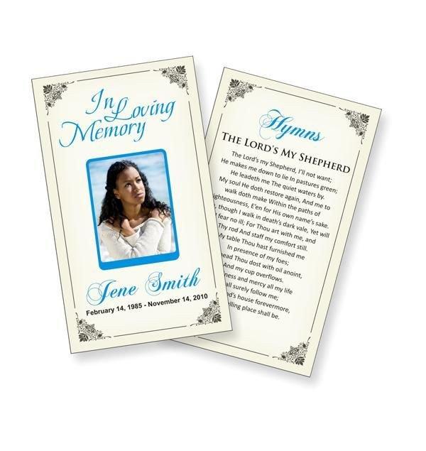 Prayer Card Template Free Funeral Prayer Cards Templates