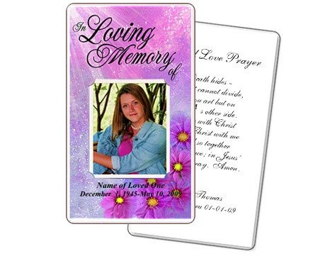 Prayer Card Template Free Memorial Prayer Cards Sparkle Floral Printable Diy Prayer