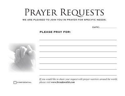 Prayer Card Template Free Prayer Card Printable Prayer Request Cards 4 Cards On 8 5