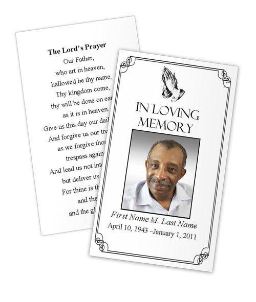 Prayer Card Template Free Praying Hands Prayer Card Template