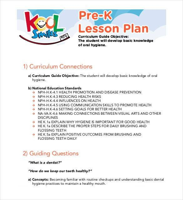 Pre K Lesson Plan Template 20 Preschool Lesson Plan Templates Doc Pdf Excel