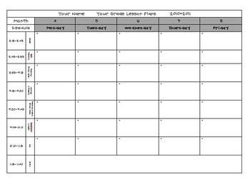 Pre K Lesson Plan Template Lesson Plan Template Pre K & Elementary by Babbling Abby