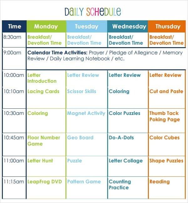 Pre K Lesson Plan Template Preschool Lesson Plan Template 10 Download Free