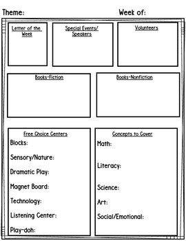 Pre K Lesson Plan Template Preschool Pre K Lesson Planning Templates & Editable
