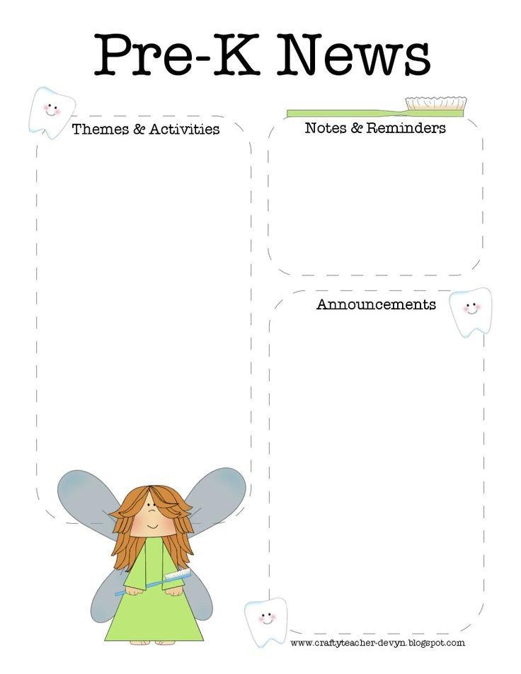 Pre K Newsletter Templates 17 Best Ideas About Preschool Newsletter Templates On