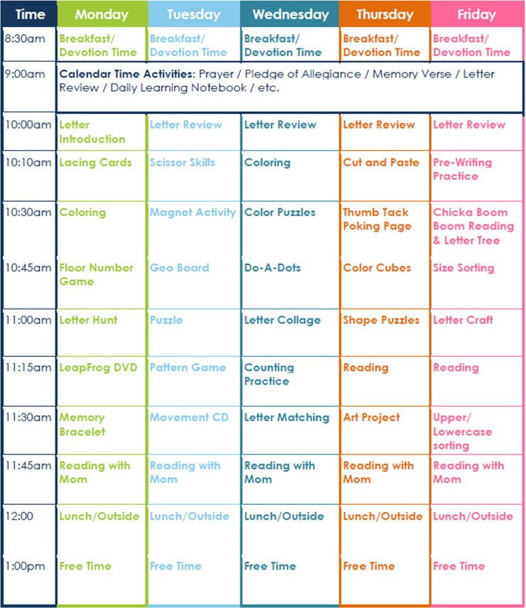 Preschool Daily Lesson Plan Template 7 Preschool Lesson Template Free Word Excel Pdf formats