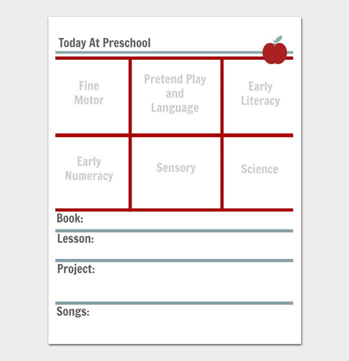Preschool Daily Lesson Plan Template Preschool Lesson Plan Template Daily Weekly Monthly